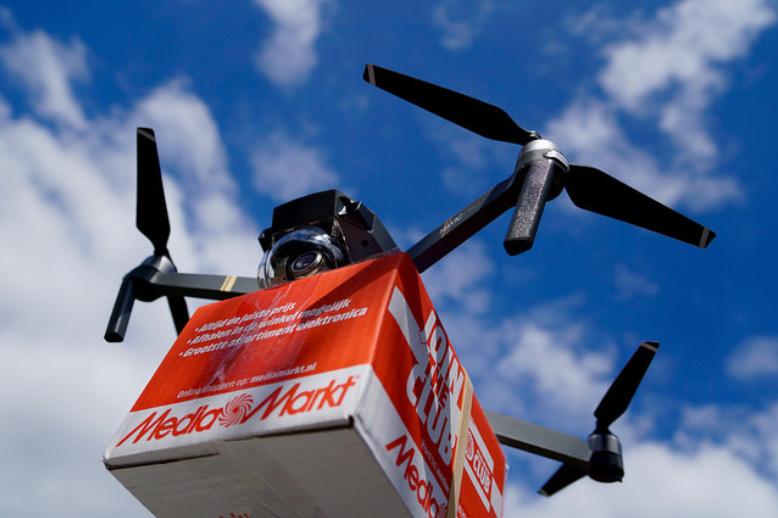 Autonomous Drone Package Delivery | Times Square Chronicles